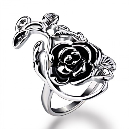 Personality Exaggerated Rose Shape Retro Women's Ring
