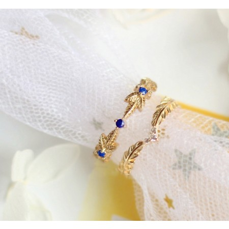 Cane Vine And V-Shaped Design Natural Lapis Lazuli Sterling Silver Lovers Couple Rings
