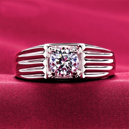 0.6 Carat Simulated Diamond Engagement/Wedding/Promise Ring For Him