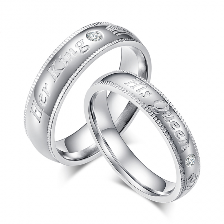 Her King And His Queen Promise Rings For Couples (Price For a Pair)