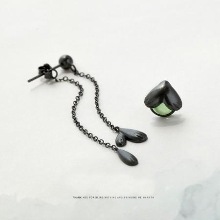 Firefly S925 Sterling Silver One Pair Black Earrings for Girls Teens Boys Students Women