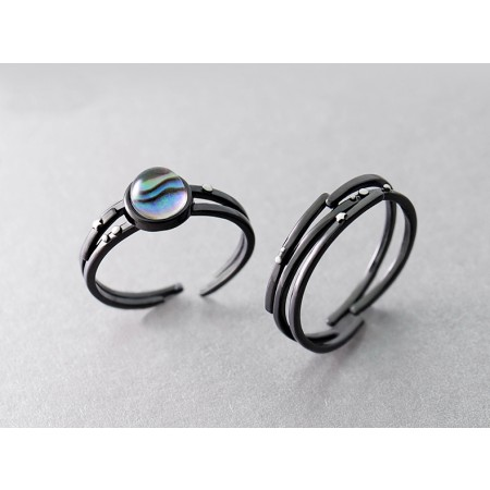Matching Rings For Boyfriend and Girlfriend Artificial Crystal Black Opening Lover Couple Rings