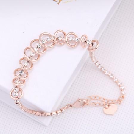 Korean Fashion Rose Golden Austria Crystal Bracelet