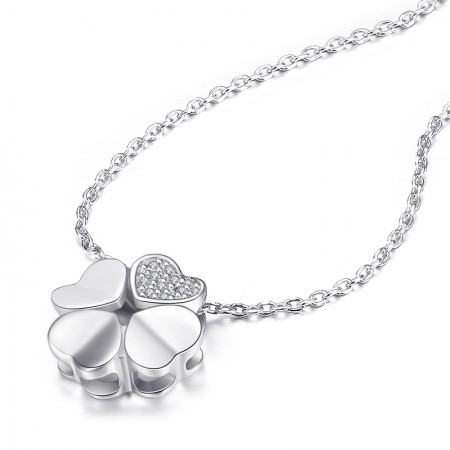 Korean Fashion 925 Sterling Silver Clover Clavicle Adjustable Necklace