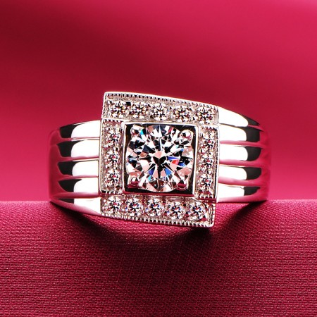 1.0 Carat Simulated Diamond Engagement/Wedding/Promise Ring For Him