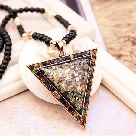Charming Triangle Shape Long Chain Sweater Necklace For Women
