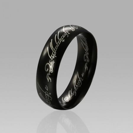 Titanium Steel Black Men's Ring with Same Style in Move The Lords of The Rings