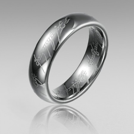 "Titanium Steel Men's Band with Same Style in MovIe "" The Lord of The Rings"""